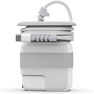 Travel Cord Organizer for Apple MacBook Air, Protective Case with Cord Winder for New MacBook Air Adapter 29W 30W Mac Charging Cable Management MacBook Air Accessories 12 13 Inch (Sliver)
