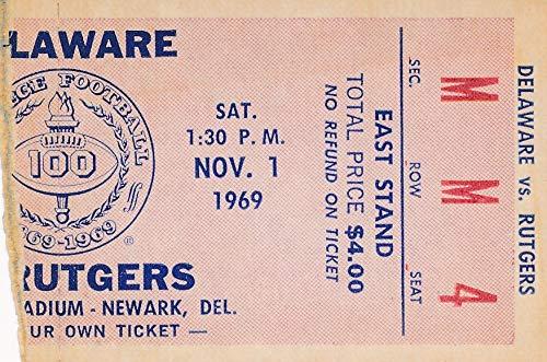 1969 Univ of Delaware vs. Rutgers College Football Game Ticket Stub 1440576
