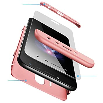 AILZH Funda movil Compatibles para Samsung Galaxy J5 2017 Carcasa+[Cristal Templado] 360 Grados Caja protección de cáscara Dura Anti-Shock Caso Mate ...