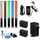 Yongnuo YN360 LED Video Light 3200-5500K RGB Full Color PRO KIT W/ AC adapter and Two High power batteries and rapid charger and case Pro KIT