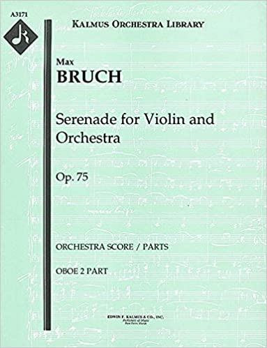 Serenade for Violin and Orchestra, Op.75 (Orchestra score /