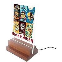 Abajur e Luminária de Led e Acrilíco - Iron Maiden