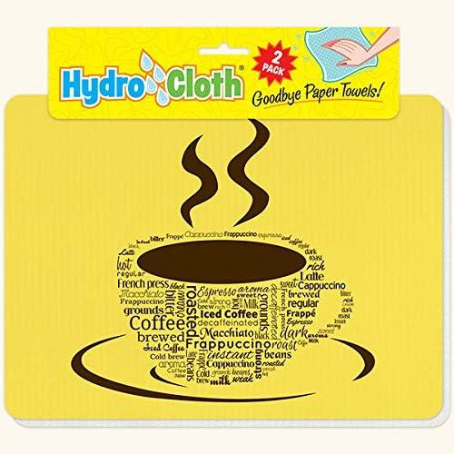 Amazon Com Coffee Words Hydro Cloths Eco Friendly Sponge Cloths Reusable Swedish Dish Cloths Set Of 2 Printed Sponge Cloths Kitchen Bath Auto Replaces 30 Rolls Of Paper Towels