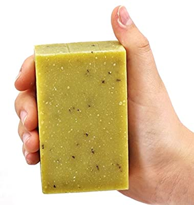 ORGANIC Handmade Peppermint Leaf Soap, Use on Hands, Face, or All over Body 4.3oz bar