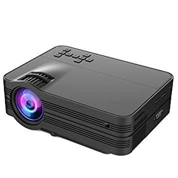 MHOLR Mini Proyector Proyector LED 2000 Lumen TV Home Theater LCD ...