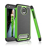 Cheap Moto Z2 Force Case, Moto Z2 Force Droid Case, Tinysaturn [YSaturn Series] [Green] Shock Absorbing Rubber Plastic Defender Bumper [Drop Protection] Case For Motorola Moto Z Force (2nd Generation)