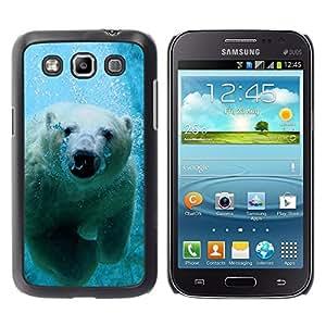 TopCaseStore / la caja del caucho duro de la cubierta de protección de la piel - Cool Polar Bear - Samsung Galaxy Win I8550 I8552 Grand Quattro