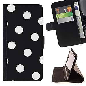 For LG G4 Stylus / G Stylo / LS770 H635 H630D H631 MS631 H635 H540 H630D H542 Case , Modelo de lunar blanco Hipster Goth- la tarjeta de Crédito Slots PU Funda de cuero Monedero caso cubierta de piel