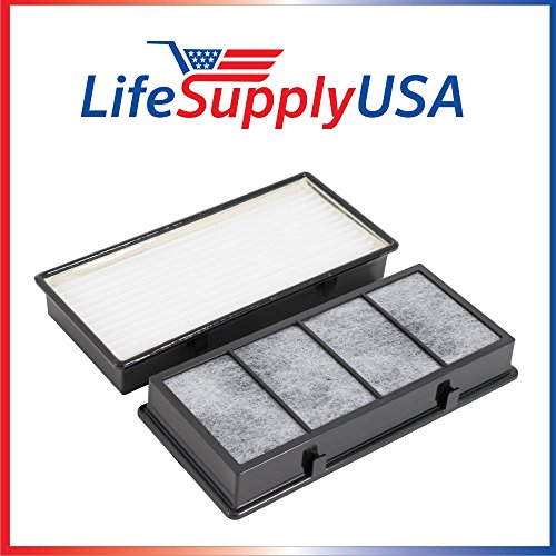 LifeSupplyUSA 2 Pack Hepa Air Filter fits Holmes Honeywell Vicks Part # 16216, HRC1, HAPF30, HAPF30D, HAPF30CS