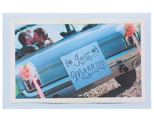 - American Greetings Just Married Wedding Card with Glitter