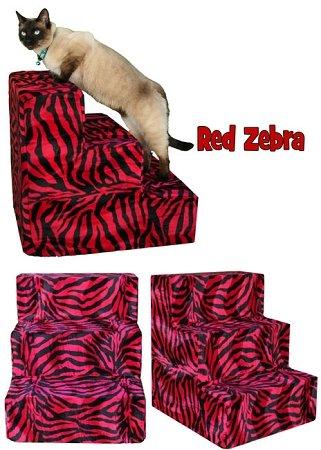 Pet Flys Red Zebra Pet Steps by Pet Flys
