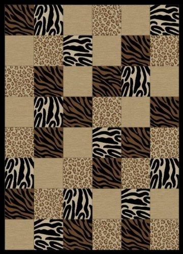 Torino Rug Collection (Torino Collection- Contemporary, Geometric Design Area Rug BLACK 7'10