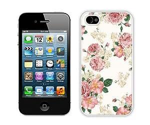 Betsey Johnson (4) White Abstract Design Custom iPhone 4S Case