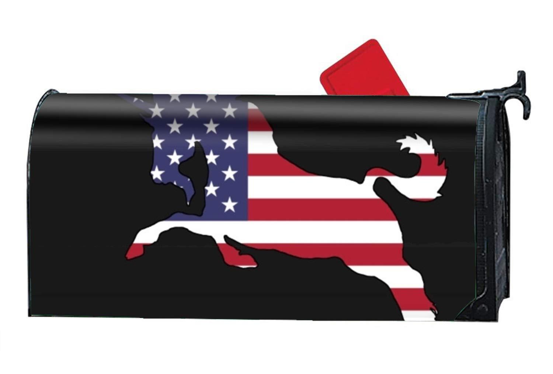 Niaocpwy Unicorn USA Flag Summer Magnetic Mailbox Cover Tropical Beach Humor Standard