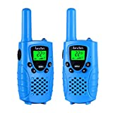 Toys : Walkie talkies for kids by KarviPack,22 channel two way radio up to use 3 Miles,Could be charged by any USB(Blue)