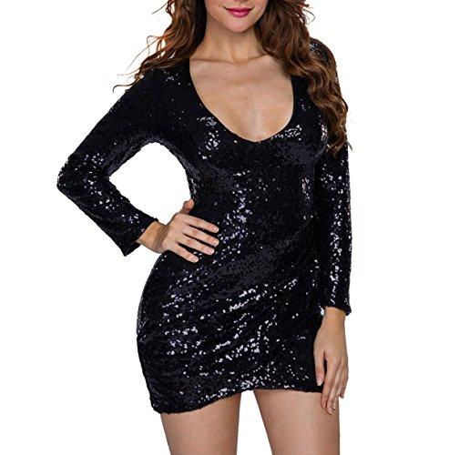 Sexy Prom collo Vestito Alta Cerniera Le Banchetti Opzionale V Black Elegante Ragazza Matrimoni Vita Donne gTqwHwz0