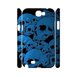 QSWHXN Skull Art 1 Phone 3D Case For Samsung Galaxy Note 2 N7100 [Pattern-6]