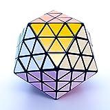 MF8 Oskar's Icosaix Black Icosahedron Face Turning Cube Puzzle 20 Sided Toy