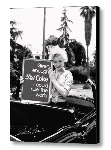 Framed Marilyn Monroe Diet Coke Rules World faux signed autograph Limited Edition Print