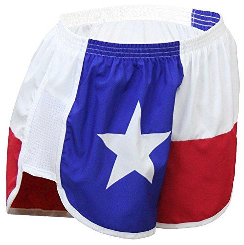 Flag Running Shorts (BOA Women's Print Challenger Texas Flag Running Short (Texas Flag, Medium))