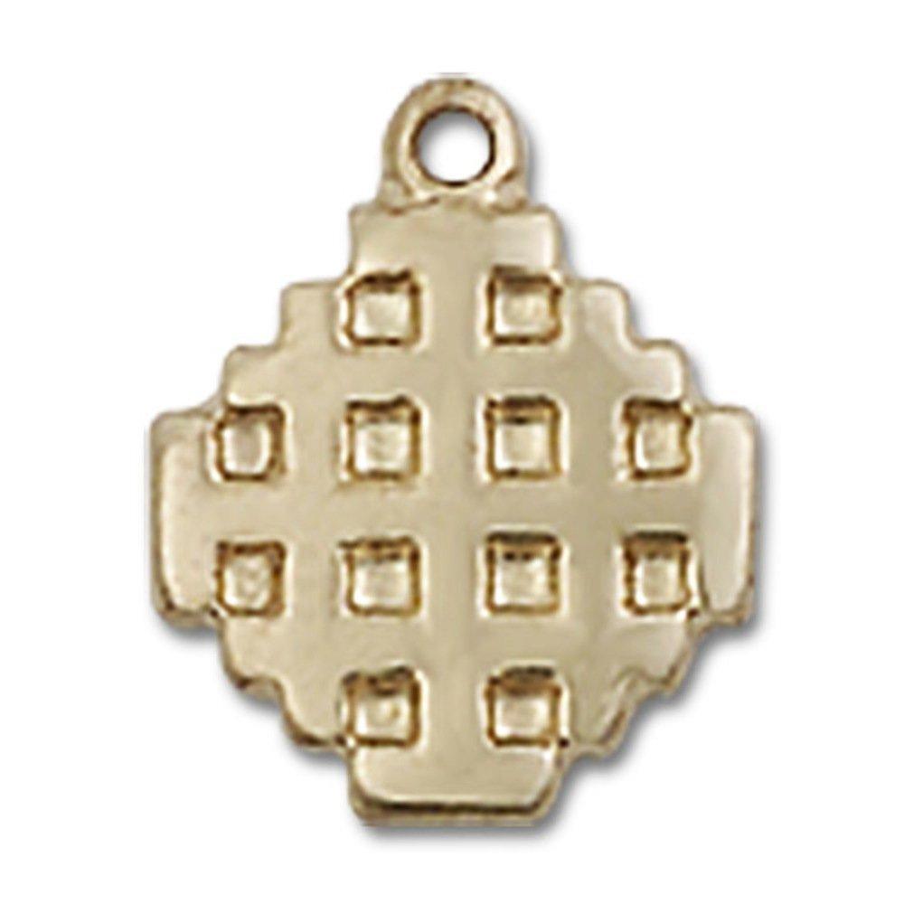 訳あり商品 14 14 ktイエローゴールドエルサレムクロスメダル3/ 8 x 1// 8 4インチ B00P5AQXVK, 質と販売 音羽屋:9854e119 --- narvafouette.eu