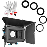 Fotga DP500 Mark III Matte Box Sunshade with Pergear Clean Kit for BMPCC BMCC 5D2 5D3 A7 A7S A7R II D500 GH4 FS700 - 15mm Rod