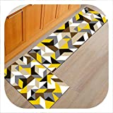 Chery-Story Long Kitchen Mat Bath Carpet Floor Mat Home Entrance Doormat Absorbent Bedroom Living Room Floor Mats Modern Kitchen Rugs,Geometric10,60x90cm and 60x180cm
