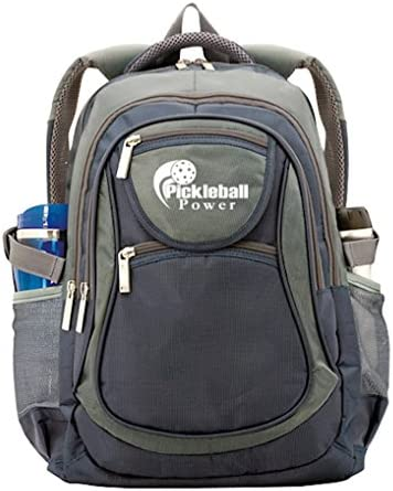 Pickleball All-In-1 Backpack – It s perfect size will hold multiple Pickleball paddles and gear. Blue Grey