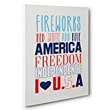 America Subway Art Patriotic Canvas Wall Art