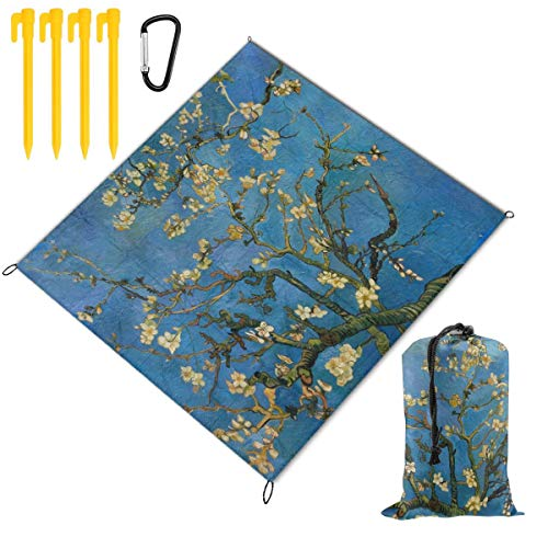 - Waterproof Picnic Mat Almond Blossom Traveling Quick Drying Picnic Mats Potable Outdoor Beach Blanket Foldable Picnic Blanket for Camping,Hiking,Festival,Beach,BBQ,Picnic 59 x 57 inch