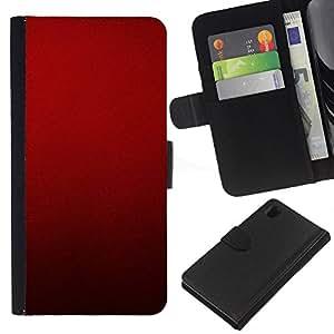 Sony Xperia Z1 / L39h / C6902 Modelo colorido cuero carpeta tirón caso cubierta piel Holster Funda protección - Blood Deep Red Crimson Light