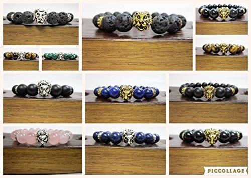 Head Custom Bracelets (CREATE your own Lion Head Bracelet Choose Your Gemstone Lion Bracelet Lion Head Charm Bracelet Custom Lion Head Gemstone Bracelet)
