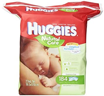 Huggies Natural Care Fragrance Free Baby Wipes, 552 Total Wipes 184 Count (Pack of