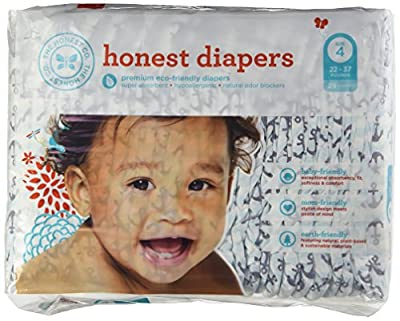 The Honest Company Diapers - PREMIUM Eco-friendly - 1 Package - 29 Ct - (22-37 Lbs) - Size 4 - ANCHORS