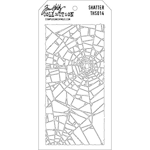 (Stampers Anonymous Tim Holtz Layered Stencil, 4.125-Inch by 8.5-Inch,)