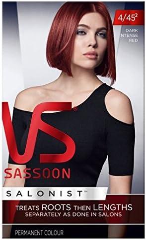 Vidal Sassoon pelo de tinte oscuro intenso 4/45 Rojo: Amazon ...