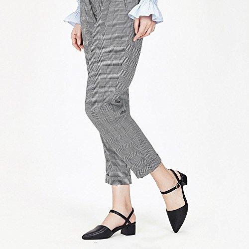 Bromista Zapatos De Zapatos Altos Clásico Mujer Sólido DKFJKI Jane Moda Black Color Mary Tacones Zqx4dP