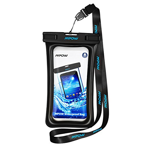 Mpow Floatable Waterproof Cell Phone Bag, iPhone 8/iPhone X Waterproof Case for Swimming, Snowshoeing,Skiing,Skating,Sledding,Ice Fishing,Kayaking Universal Waterproof Cell Phone Pouch for iPhone 7/ 7 Plus/6/6 Plus, Google Pixel, LG G6, Huawei P9/ P9 Plus, Galaxy S8 and More