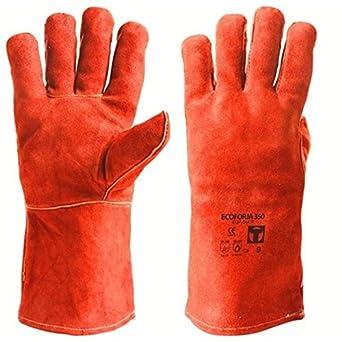 Guantes Soldar EGP044 350 9 Rojo: Amazon.es: Industria, empresas y ciencia