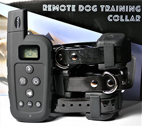GROOVYPETS 650 YD Remote Dog Training Shock Collar Hunting Trainer E-Collar Waterproof Rechargeable Three-Dog Model