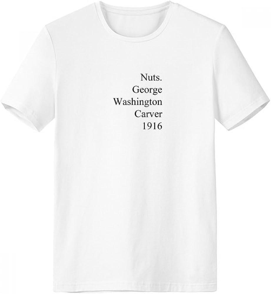 DIYthinker George Washington Carver citas de cuello redondo de la camiseta blanca de manga corta Comfort Deportes camisetas de regalos - Multi - XXXL: Amazon.es: Ropa y accesorios