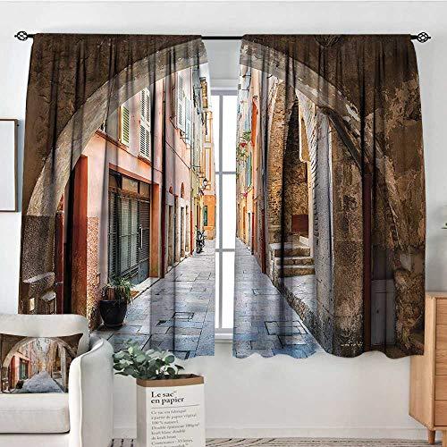 RenteriaDecor European,Personized Curtains Medieval Stone Arch France 42