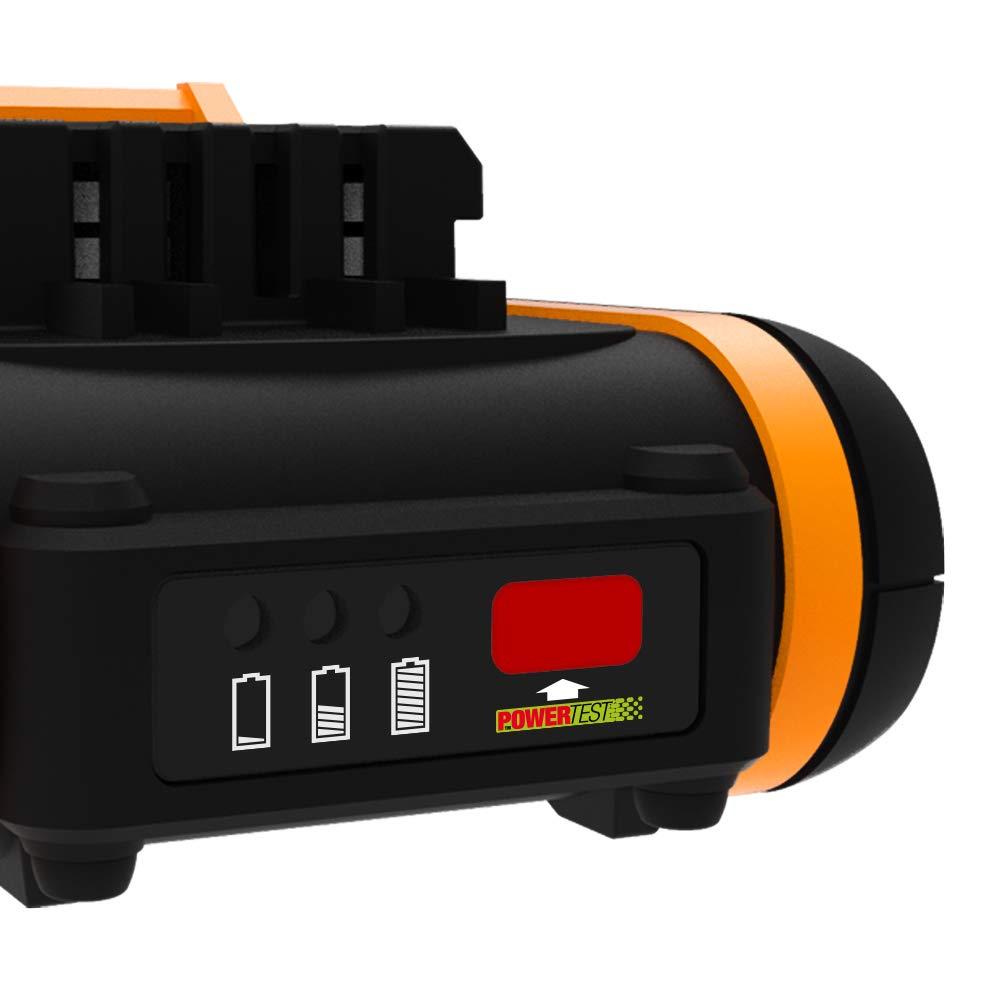Worx WA3551 - Batería de ion de litio (20 V, 2,0 Ah ...
