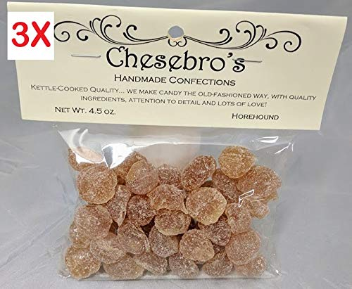 Chesebro's Handmade Confections Old-Fashioned Kettle-Cooked Horehound Hard Candy Drops