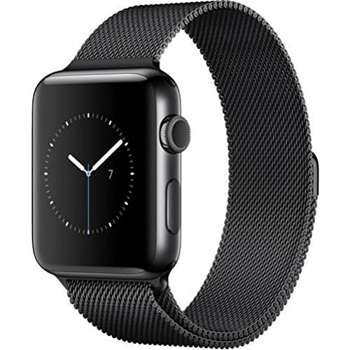 Apple Watch Series 2 42mm Smartwatch (Space Black Stainless Steel Case, Space Black Milanese Loop Band) by Apple (Image #2)