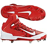 Nike Mens Camo Air Huarache Pro MId Camo Metal Cleats 10.5 US Red/White