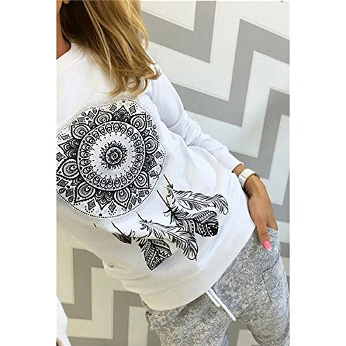 Aster Moon Shop Long Sleeve Print Hoody Jumper Femme Pullovers Streetwear Crew Neck Ladies Tops Blusas, (Color - Red, Size - XXL) at Amazon Womens Clothing ...