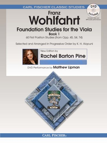 (O2659X - Foundation Studies for the Viola - Book 1: 60 First Position Studies (from Op. 45, 54, 74) - Book & DVD)