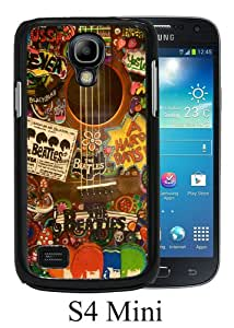 Lovely And Unique Designed Case For Samsung Galaxy S4 Mini With The Beatles Hippie Guitar Black Phone Case