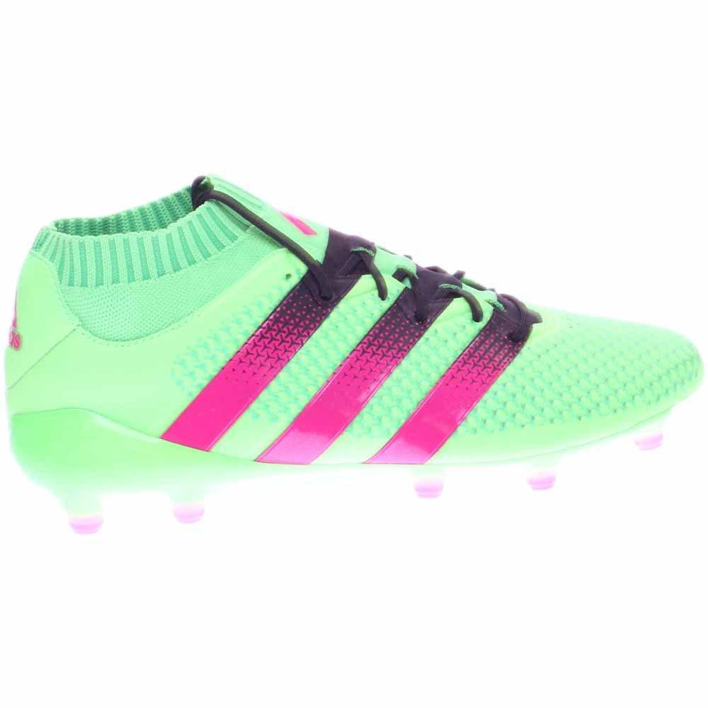 buy online 79033 c9c52 Adidas Ace 16.1 Primeknit Fg   ag morsetti di calcio (sz. 6.5) Solar Green,  Shock Rosa  Amazon.it  Scarpe e borse